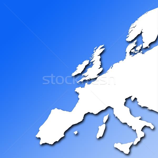 Avrupa piyasalar beyaz harita Avrupa Stok fotoğraf © ronfromyork