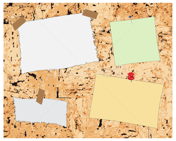 Cork board and note paper Stock photo © ronfromyork