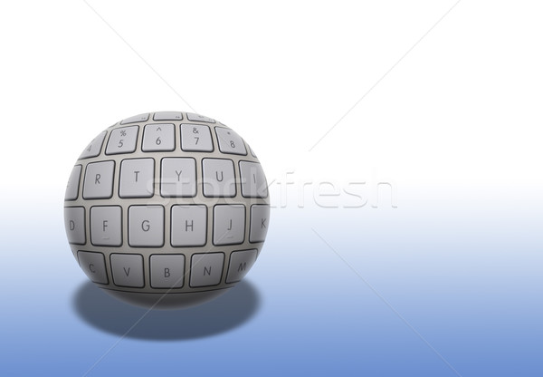 Computer ball Stock photo © ronfromyork