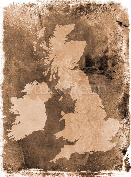 Grunge UK map Stock photo © ronfromyork