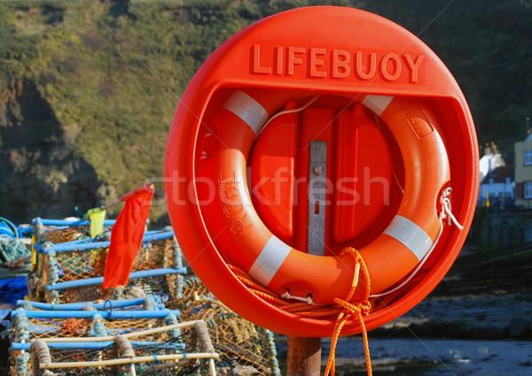 кольца север Йоркшир пляж безопасности Сток-фото © ronfromyork