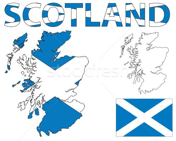 Écosse carte pavillon croix fond Photo stock © ronfromyork