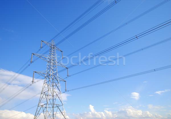 электроэнергии мнение небе облака синий Сток-фото © ronfromyork