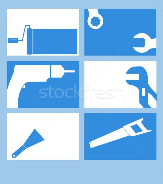 Ticaret altı basit kartvizit tasarımlar Stok fotoğraf © ronfromyork