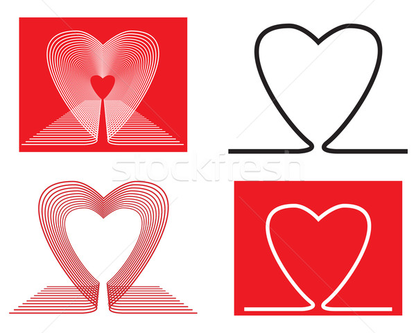 Valentine heart shapes Stock photo © ronfromyork