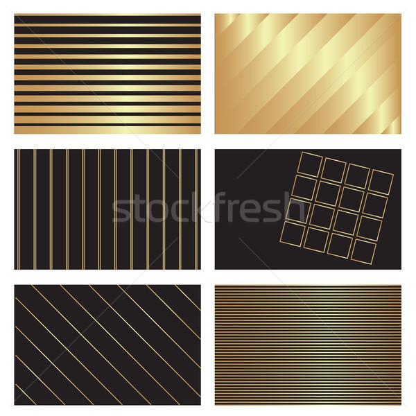 золото черный фоны шесть визитной карточкой текстуры Сток-фото © ronfromyork