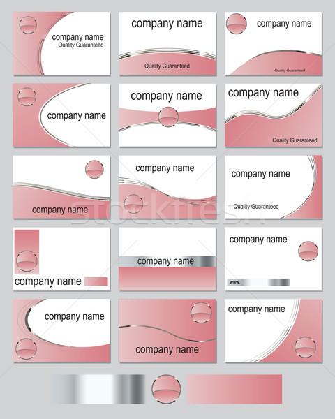 розовый пятнадцать визитной карточкой металлический Сток-фото © ronfromyork