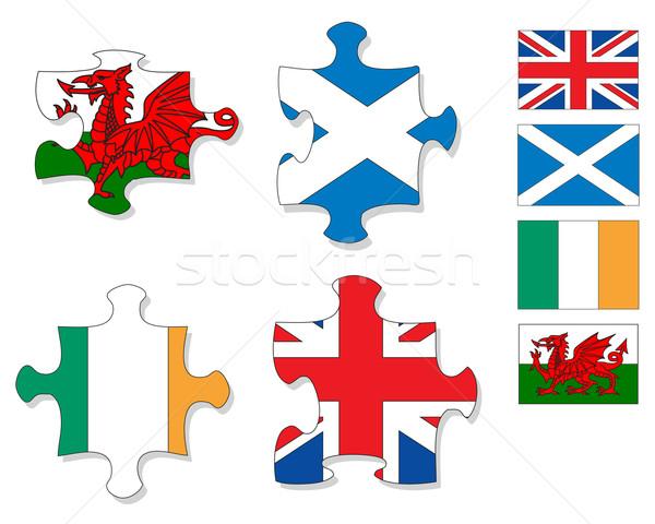 флагами Ирландия четыре частей Сток-фото © ronfromyork