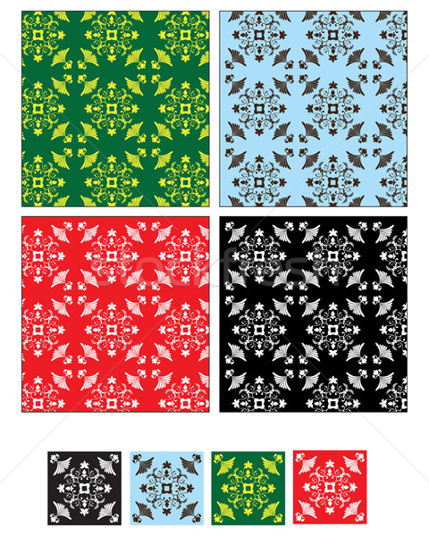 Repeating pattern in four colours Stock photo © ronfromyork