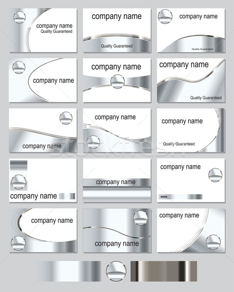 Metallic business cards Stock photo © ronfromyork
