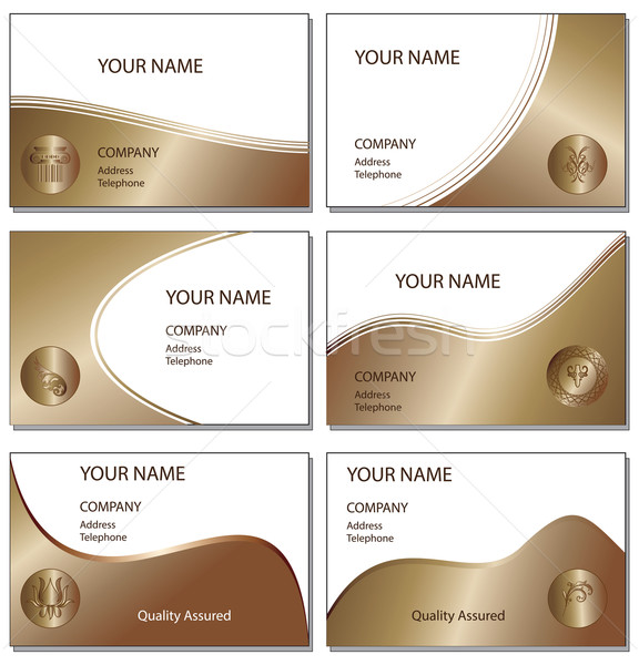Six bronze business cards Stock photo © ronfromyork