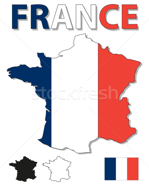 France map and flag Stock photo © ronfromyork
