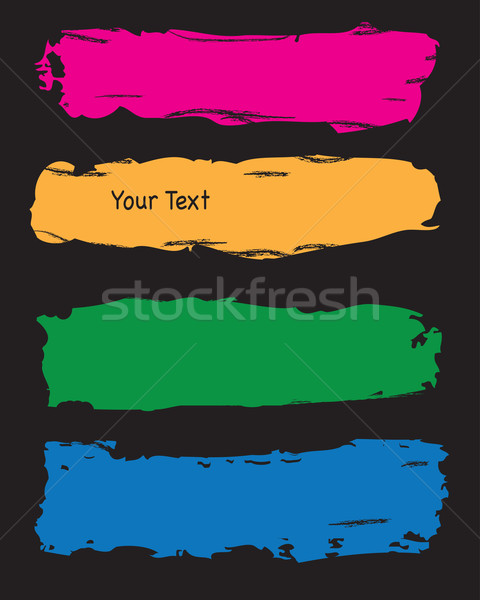Гранж всплеск Баннеры четыре тип различный Сток-фото © ronfromyork