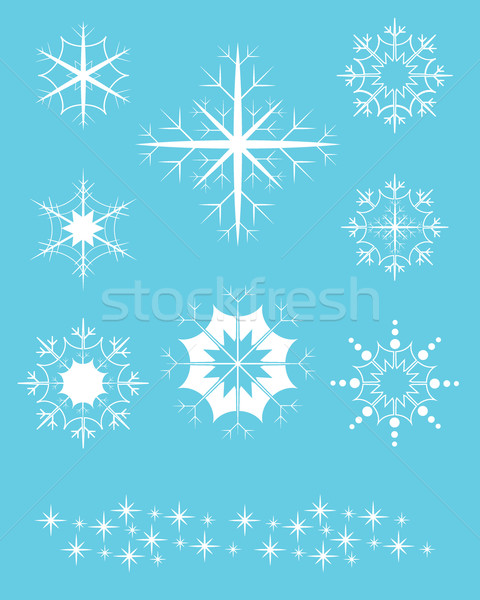 Vector snowflake patterns Stock photo © ronfromyork