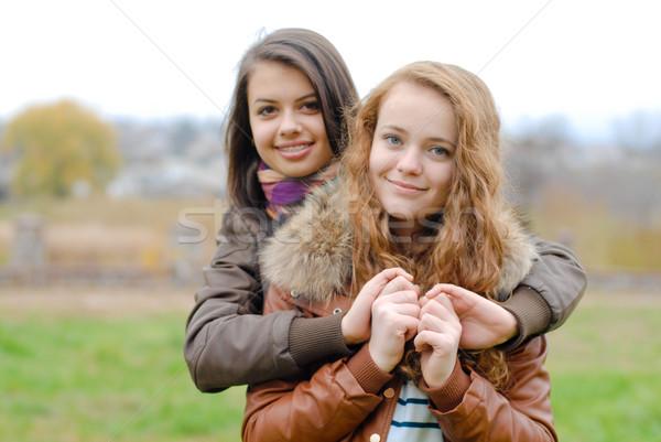 Amizade dois o melhor jovem Foto stock © rosipro