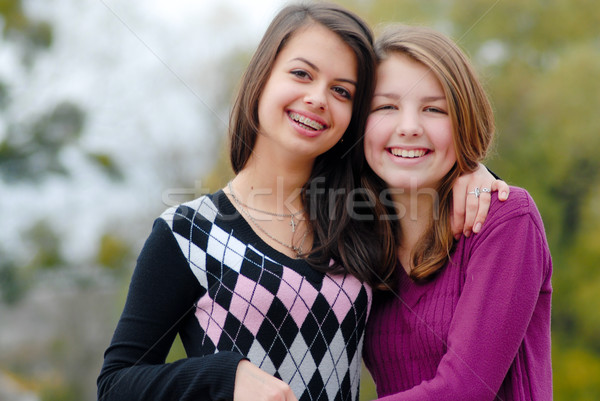 Friendship - Two best girlfriends hugging eachother Stock photo © rosipro