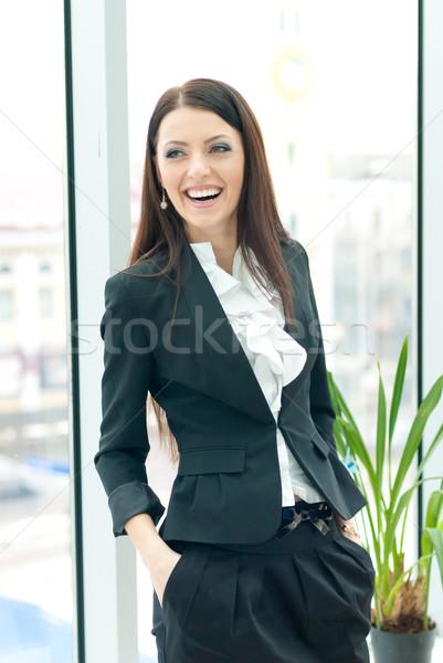 Jovem mulher de negócios feliz risonho negócio feminino Foto stock © rosipro
