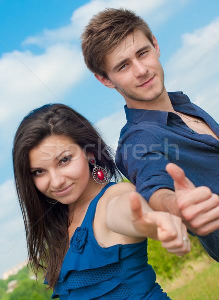 Feliz mulher homem Foto stock © rosipro