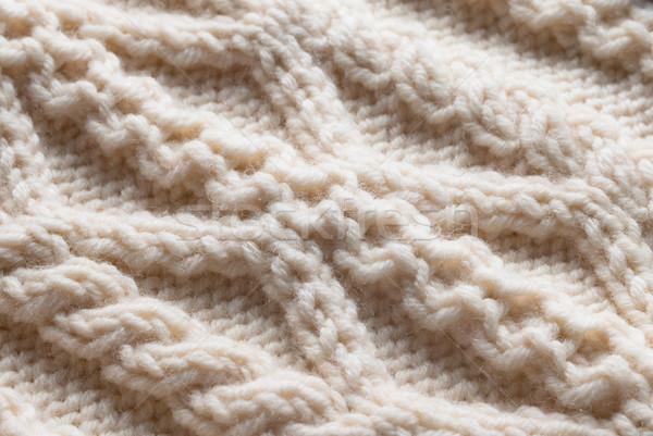 Gyapjú pulóver köt minta kötött részletek Stock fotó © rosipro