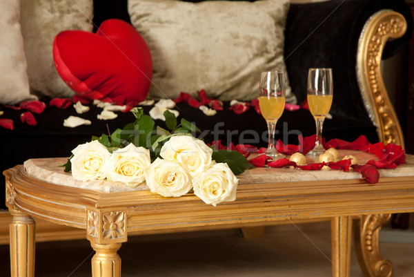 Gorgeous hotel room prepared for celebration Stock photo © rosipro