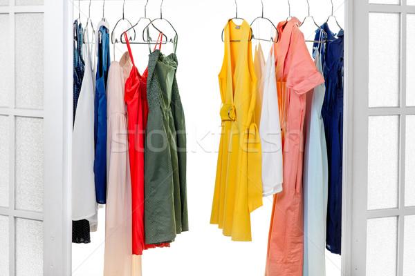 гардероб красочный Платья цвета одежды платье Сток-фото © RossHelen