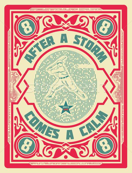 öreg retro baseball kártya szervezett terv Stock fotó © roverto