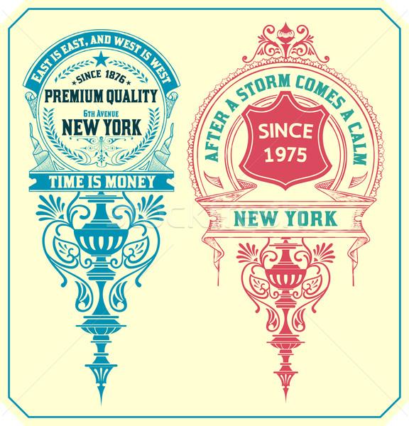 Premium Quality insignias.  Stock photo © roverto