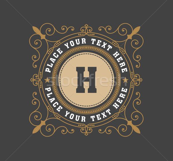 Vintage logo modello hotel ristorante business Foto d'archivio © roverto