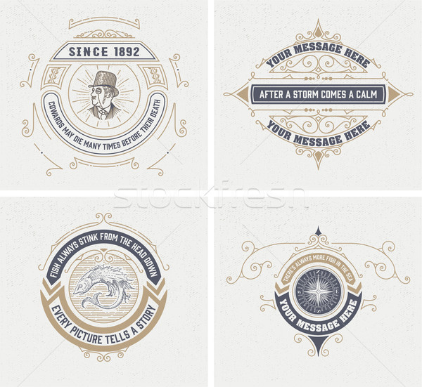 vintage logo templates, Hotel, Restaurant, Business or Boutique  Stock photo © roverto