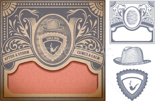 Vector retro tarjeta organizado capas diseno Foto stock © roverto