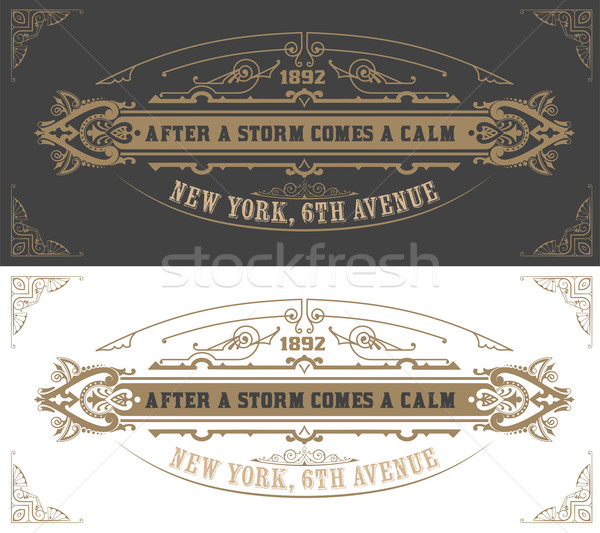 Invitation card  template. Vector vintage background. with flour Stock photo © roverto