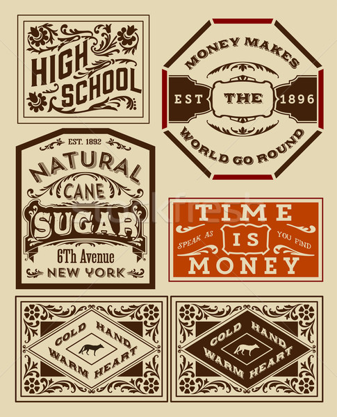 Old advertisement designs - Vintage illustration Stock photo © roverto