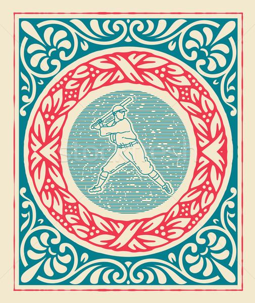 ретро спорт дизайна фон кадр Сток-фото © roverto