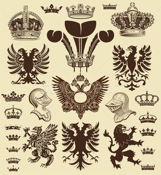 Vector. Heraldic elements Stock photo © roverto