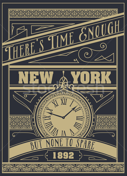 Quote Typographical Background, vector design. 'There's time eno Stock photo © roverto