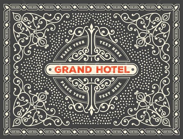 ретро карт логотип свадьба антикварная графических Сток-фото © roverto