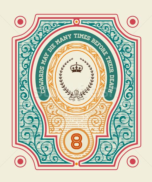 Kraliyet etiket barok süsler ayrıntılar Stok fotoğraf © roverto