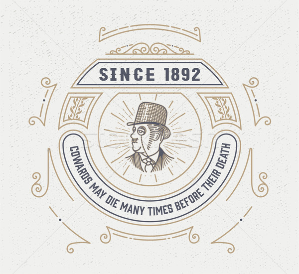 vintage logo template, Hotel, Restaurant, Business or Boutique I Stock photo © roverto