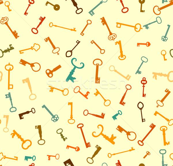 ключами шаблон бесшовный вектора файла двери Сток-фото © roverto