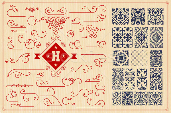 Seamless Patterns and accents Stock photo © roverto