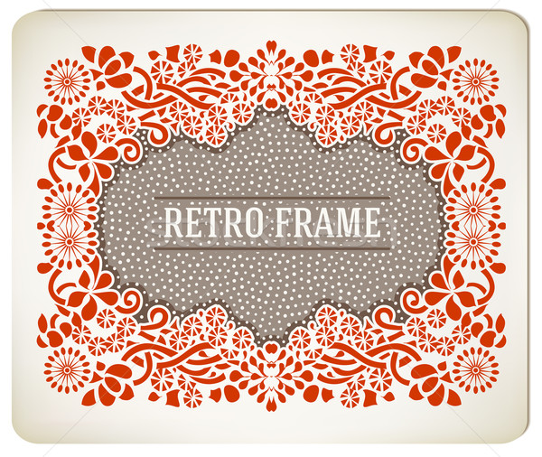 Premium Quality card. Baroque ornaments and floral details. Old  Stock photo © roverto