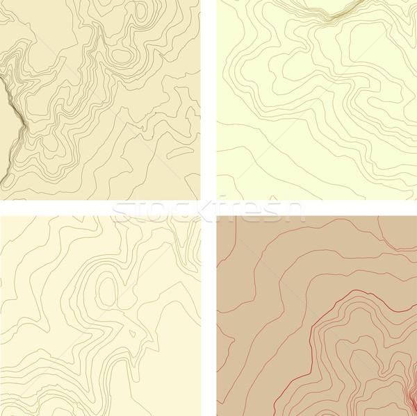 Soyut harita ayarlamak deniz dizayn seyahat Stok fotoğraf © roverto