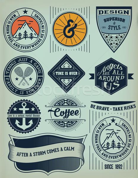 Vector. Vintage Insignias / logotypes set. Vector design element Stock photo © roverto