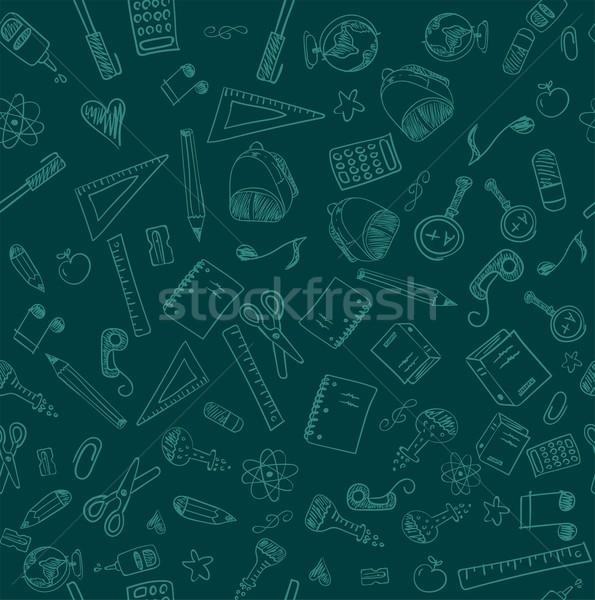 Végtelenített iskola vektor akta papír földgömb Stock fotó © roverto