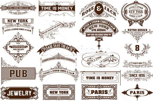 Vector set. 22 Labels and banners.  Stock photo © roverto