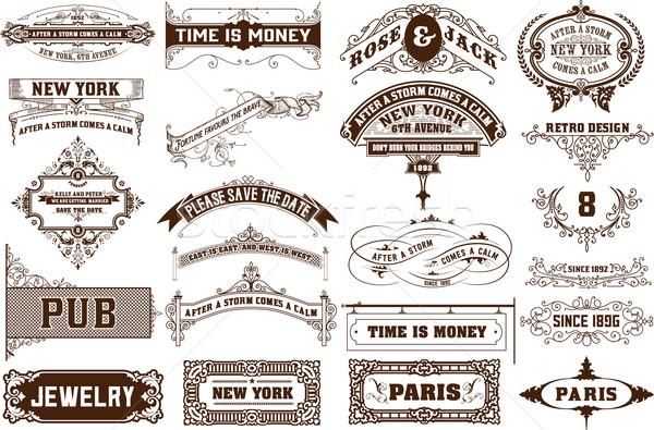 Vektor szett 22 címkék bannerek réteges Stock fotó © roverto