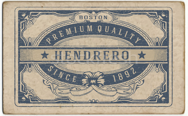Retro label with cracked texture Stock photo © roverto