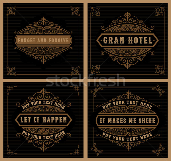 Vintage логотип отель ресторан бизнеса Сток-фото © roverto