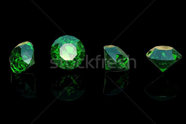 Zümrüt yalıtılmış moda mücevher kristal Stok fotoğraf © Rozaliya