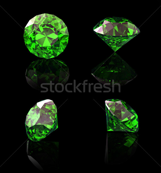 Stock photo: Round peridot